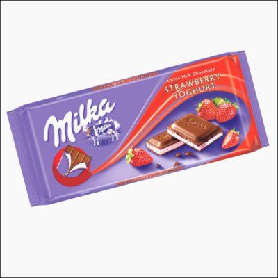 Milka czekolada truskawkowo - jogurtowa 100g
